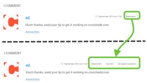 WordPress Kommentare im Frontend bearbeiten