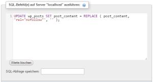 WordPress Suchen und Ersetzen mit SQL