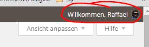 WordPress Willkommenstext
