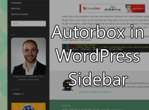 Autorbox in WordPress Sidebar ohne Plugin